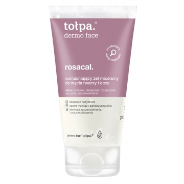 TOŁPA Dermo Face, Rosacal. STRENGTHENING MICELLAR CLEANSING GEL for FACE & EYES 150 ml
