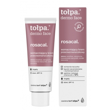 TOŁPA Dermo Face, Rosacal. STRENGTHENING DAY CREAM ANTI-WRINKLE, RICH SPF15 40 ml