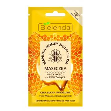 BIELENDA Manuka Honey Nutri Elixir NOURISHING-MOISTURIZING FACE MASK 8 g